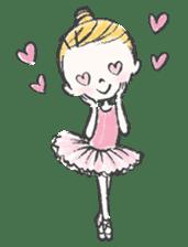 Happy Ballerina sticker #6043949