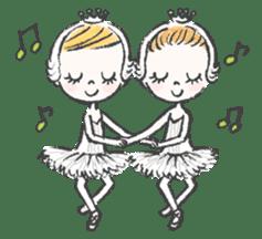 Happy Ballerina sticker #6043952