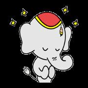 สติ๊กเกอร์ไลน์ Elephant from Land of smile Thailand