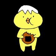 สติ๊กเกอร์ไลน์ Sticker of funny chick