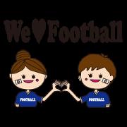 สติ๊กเกอร์ไลน์ Let's enjoy women's football