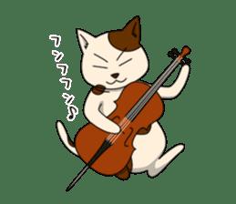 Cello cat Anton sticker #6058724