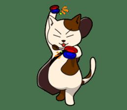 Cello cat Anton sticker #6058730
