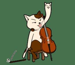 Cello cat Anton sticker #6058731