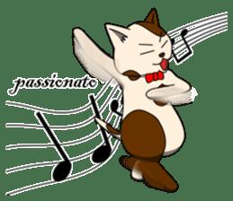 Cello cat Anton sticker #6058758