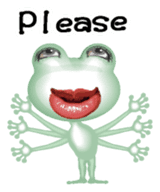 Frog of the big mouth English version sticker #6064009
