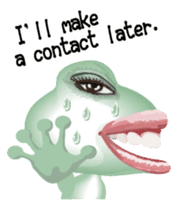 Frog of the big mouth English version sticker #6064014