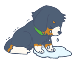 Parakeet and Dog sticker #6068592