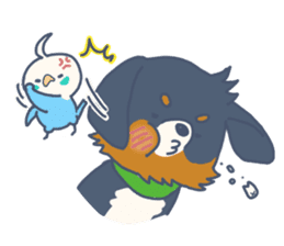 Parakeet and Dog sticker #6068607