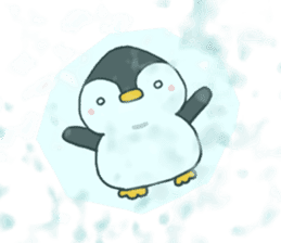 The head's penguin of a rice-ball-shaped sticker #6070312