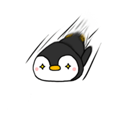 The head's penguin of a rice-ball-shaped sticker #6070323