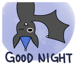 Black Bat and White Bat sticker #6088699