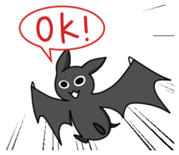 Black Bat and White Bat sticker #6088704
