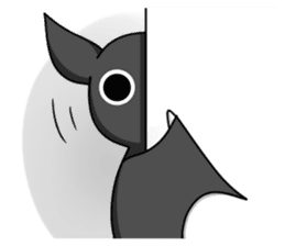 Black Bat and White Bat sticker #6088713