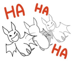 Black Bat and White Bat sticker #6088715