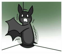 Black Bat and White Bat sticker #6088718