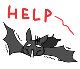 Black Bat and White Bat sticker #6088719