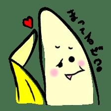 hard work banana sticker #6119433