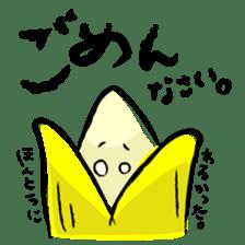 hard work banana sticker #6119439