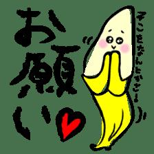 hard work banana sticker #6119441