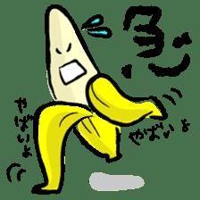 hard work banana sticker #6119444
