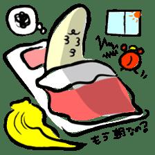 hard work banana sticker #6119446