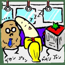 hard work banana sticker #6119455