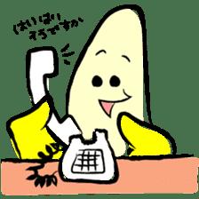 hard work banana sticker #6119458