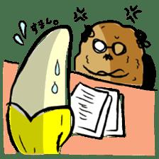 hard work banana sticker #6119459