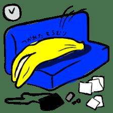 hard work banana sticker #6119460
