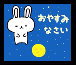 yuru rabbit yokutukau sticker #6124641