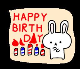 yuru rabbit yokutukau sticker #6124669