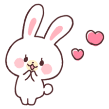 love love white rabbit sticker #6126792