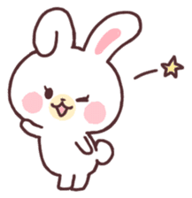 love love white rabbit sticker #6126793
