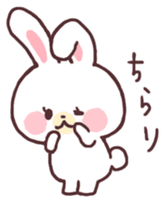 love love white rabbit sticker #6126801