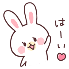 love love white rabbit sticker #6126802