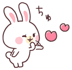 love love white rabbit sticker #6126807