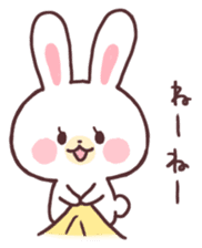 love love white rabbit sticker #6126812