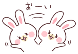 love love white rabbit sticker #6126823