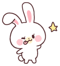 love love white rabbit sticker #6126825