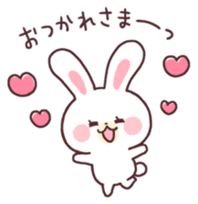 love love white rabbit sticker #6126826