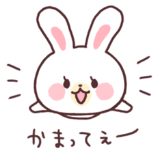 love love white rabbit sticker #6126827
