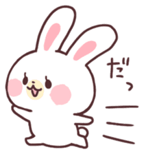 love love white rabbit sticker #6126828