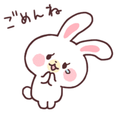 love love white rabbit sticker #6126829