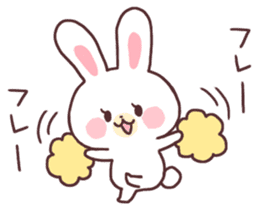 love love white rabbit sticker #6126831