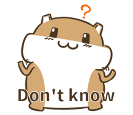 a hamster daily conversation sticker #6131558
