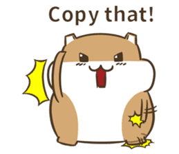 a hamster daily conversation sticker #6131565