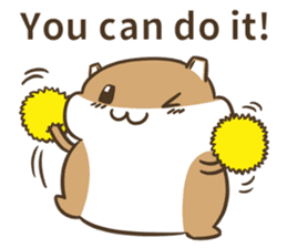 a hamster daily conversation sticker #6131576