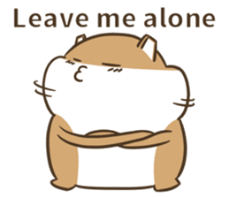 a hamster daily conversation sticker #6131590