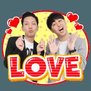 สติ๊กเกอร์ไลน์ Yoshimoto mugendai hall comedian sticker